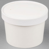 Choice 12 oz. Double-Wall Poly White Paper Soup / Hot Food Cup with Vented Paper Lid - 250/Case