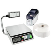 Tor Rey PC-80LT 80 lb. Price Computing Scale with Tower and Printer Kit, Legal for Trade