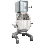 MX40 40 Qt. Gear Driven Commercial Planetary Floor Mixer with Stainless Steel Bowl Guard
