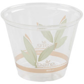 Dart Solo RTP9RBARE Bare Eco-Forward 9 oz. RPET Squat Cold Cup - 50/Pack