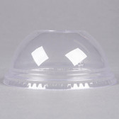"""Fabri-Kal Greenware DLGC16/24 Compostable Clear Plastic Dome Lid with 1"""" Hole - 100/Pack"""