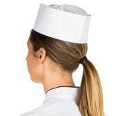 Chef Revival DRC100 Adjustable Paper Overseas Cap - 100/Pack
