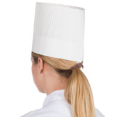 "Royal Paper SCH7 7"" Disposable Fluted Chef Hat - 15/Pack"