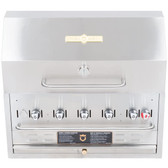 "CROWN VERITY BI-36PKG NATURAL GAS 36"" STAINLESS STEEL BUILT IN OUTDOOR BBQ GRILL / CHARBROILER WITH ROLL DOME PACKAGE"