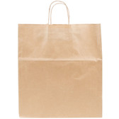 "Duro Super Royal Natural Kraft Paper Shopping Bag with Handles 14"" x 10"" x 15 3/4"" - 200/Bundle"