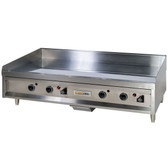 "Anets A24X48AGC 48"" Natural Gas Chrome Countertop Griddle with Thermostatic Controls - 120,000 BTU"