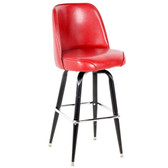 "Lancaster Table & Seating Deluxe Crimson Barstool with 19"" Wide Bucket Seat"