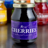 Regal 16 oz. Purple Maraschino Cherries with Stems