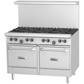 """Garland G48-G48LL 48"""" Range with 48"""" Griddle and 2 Space Saver Ovens - 136,000 BTU"""