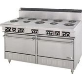 Garland S684 Sentry Series 10 Open Burner Electric Restaurant Range with 2 Standard Ovens - 240V, 1 Phase, 27 kW