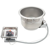 APW Wyott SM-50-11D UL 11 Qt. Round Drop In Soup Well with Drain - 120V