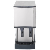 Scotsman HID312A-1A Meridian Countertop Air Cooled Ice Machine and Water Dispenser - 12 lb. Bin Storage
