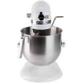 KitchenAid KSM8990WH White NSF 8 Qt. Bowl Lift Commercial Countertop Mixer - 120V, 1 3/10 hp