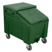 IRP 3110005 Forest Green Ice Caddy 100 lb. Mobile Ice Bin