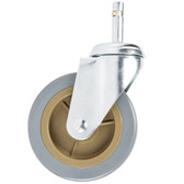"Choice 4"" Swivel Caster for Bussing and Utility Carts - No Brake"