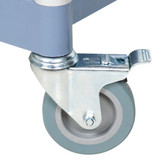 "Choice 4"" Swivel Caster for Bussing and Utility Carts - With Brake"