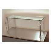 "Advance Tabco Sleek Shield GSG-12-48 Single Tier Self Service Food Shield with Glass Top - 12"" x 48"" x 18"""