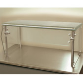 "Advance Tabco Sleek Shield NSG-12-120 Single Tier Self Service Food Shield with Stainless Steel Shelf - 12"" x 120"" x 18"""