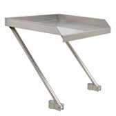 "21"" x 18"" 18-Gauge Stainless Steel Detachable Drainboard"