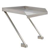 "21"" x 18"" 18-Gauge Stainless Steel Detachable Drainboard"