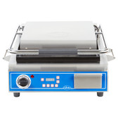 "Globe GPG14D Deluxe Sandwich Grill with Grooved Plates - 14"" x 14"" Cooking Surface - 120V, 1800W"