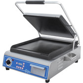 "Globe GSG14D Deluxe Sandwich Grill with Smooth Plates - 14"" x 14"" Cooking Surface - 120V, 1800W"