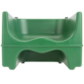 Lancaster Table & Seating Green Dual Height Plastic Booster Seat
