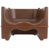 Lancaster Table & Seating Brown Dual Height Plastic Booster Seat with Strap