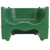 Lancaster Table & Seating Green Dual Height Plastic Booster Seat with Strap