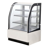 "35"" Curved Glass Refrigerated Floor Display Case - 12.3 Cu. Ft. - 44175"