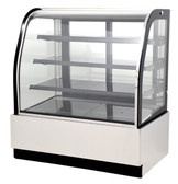 "47"" Curved Glass Refrigerated Floor Display Case - 14.1 Cu. Ft. - 44251"