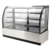 "71"" Curved Glass Refrigerated Floor Display Case - 22.9 Cu. Ft. - 44253"