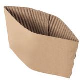EcoChoice 8 oz. Kraft Coffee Cup Sleeve / Jacket / Clutch - 50/Pack