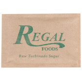 Regal Foods 2.8 Gram Raw Turbinado Sugar Packet - 1000/Case