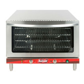 Single Deck Full Size Electric Countertop Convection Oven with Steam Injection - 208-240V, 3500-4600W
