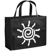 Elkay Plastics Large Black Non-Woven Reusable Shopping Bag - 100/Case