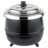 14 Qt. Round Countertop Black Food / Soup Kettle Warmer - 110V, 600W