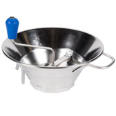 """Tellier X3 5 Qt. Stainless Steel Food Mill #3 - 12"""" x 9 3/4"""""""