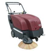 "Minuteman KS28 28"" Walk Behind Battery Operated Carpet Sweeper"