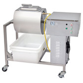 Stainless Steel Mobile Vacuum Meat Marinator - 110V, 1/4 hp