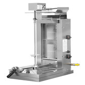 Inoksan PDE 503N Electric Doner Kebab Machine / Vertical Broiler with Robax Glass Shield - 20-200 lb. Capacity