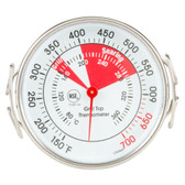 """2"""" Stainless Steel Dial Grill Thermometer - NSF"""