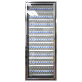 "Styleline CL2472-LT Classic Plus 24"" x 72"" Walk-In Freezer Merchandiser Door with Shelving - Anodized Bright Silver, Right Hinge"