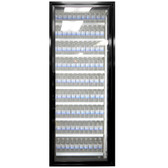 "Styleline CL2472-LT Classic Plus 24"" x 72"" Walk-In Freezer Merchandiser Door with Shelving - Satin Black, Right Hinge"