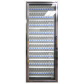"Styleline CL2472-LT Classic Plus 24"" x 72"" Walk-In Freezer Merchandiser Door with Shelving - Anodized Bright Silver, Left Hinge"