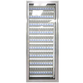 "Styleline CL2472-LT Classic Plus 24"" x 72"" Walk-In Freezer Merchandiser Door with Shelving - Anodized Satin Silver, Right Hinge"