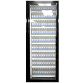 "Styleline CL2472-LT Classic Plus 24"" x 72"" Walk-In Freezer Merchandiser Door with Shelving - Satin Black, Left Hinge"