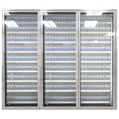 "Styleline CL3080-LT Classic Plus 30"" x 80"" Walk-In Freezer Merchandiser Doors with Shelving - Satin Black, Right Hinge - 3/Set"