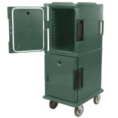 Cambro UPC800192 Ultra Camcarts® Granite Green Insulated Food Pan Carrier - Holds 12 Pans
