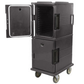 Cambro UPC800191 Ultra Camcarts® Granite Grey Insulated Food Pan Carrier - Holds 12 Pans